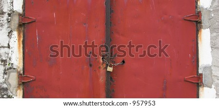 Red old gate