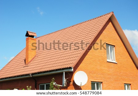 Red Old Metal House Roof Tiles Stock Photo (Royalty Free) 548779084    Shutterstock