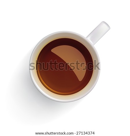 Red or black tea in a white cup. Clipping path isolating cup! - stock photo