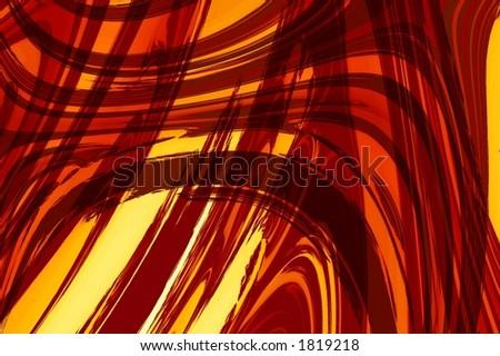 Red orange abstract art - stock photo