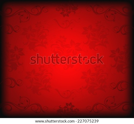 Red ornament floral background