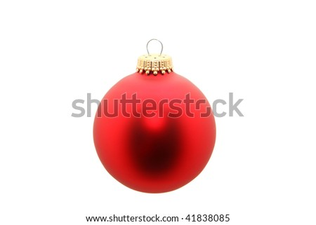 Red ornament isolated on white.