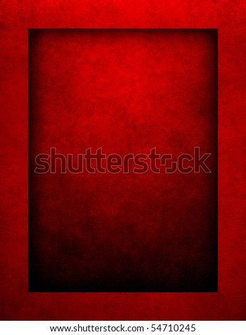 red paint background with border - stock photo