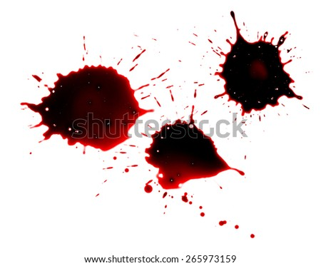 Red Paint Splat on White Background