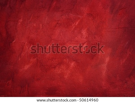 red painted background - stock photo