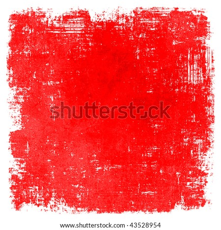Red Painted Grunge Texture - stock photo