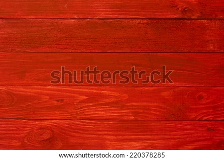Red painted old wooden wall - background or texture - stock photo
