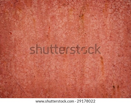 red painted on metal surface texture