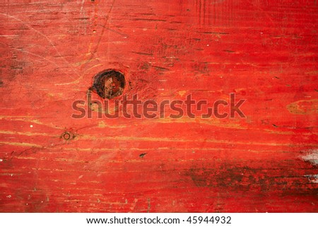 Red painted plank texture - stock photo