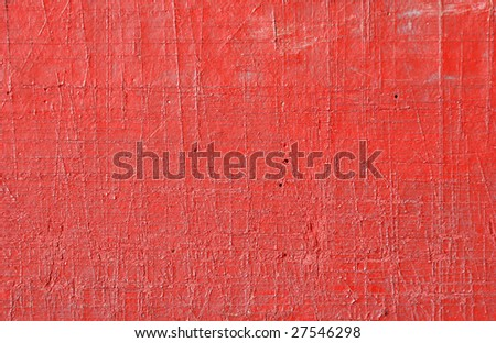 Red painted wall texture - stock photo