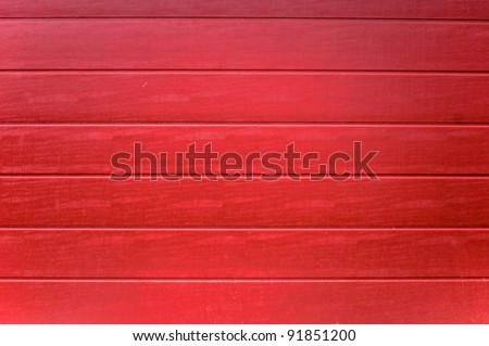 Red Painted Wood - stock photo