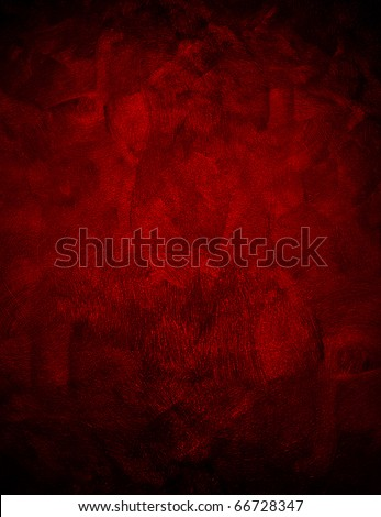 red painting background - stock photo