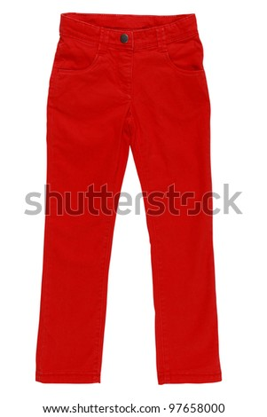 red pants - stock photo