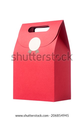 red paper bag - stock photo