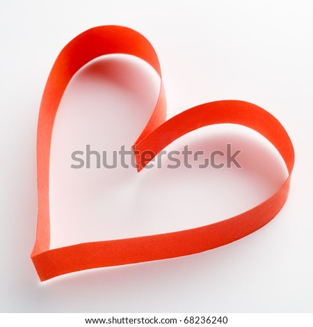 red paper hearts - stock photo