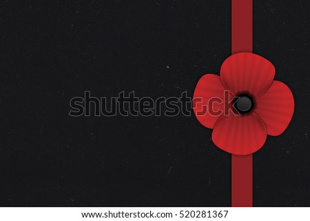 Red paper poppy flower on old stock illustration 520281367 red paper poppy flower on old black paper background empty space for text mightylinksfo