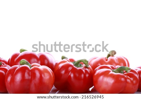 red paprika pepper on white background - stock photo