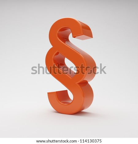 red paragraph symbol on grey background with highlights - stock photo
