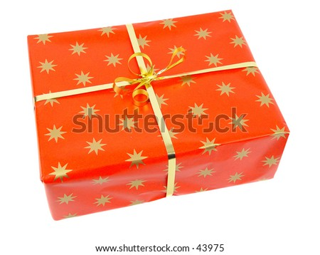 Red Parcel  - stock photo
