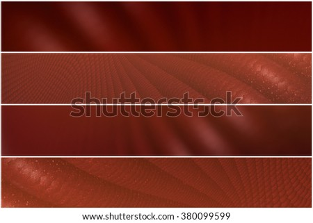 Red pattern - 4 divider - stock photo