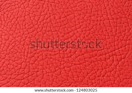 Red Patterned Faux Leather Texture Macro - stock photo