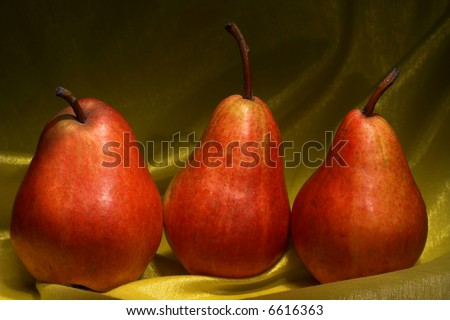 Red Pears still life - stock photo