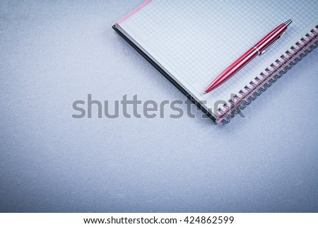 Red pen blank checked reminder office concept. - stock photo