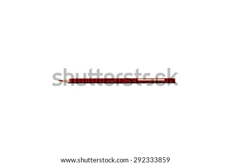red pencil isolated on white backgrounf