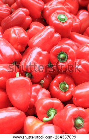 red pepper bells as fresh vegetable background - stock photo