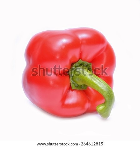 Red pepper (capsicum) isolated on white background - stock photo