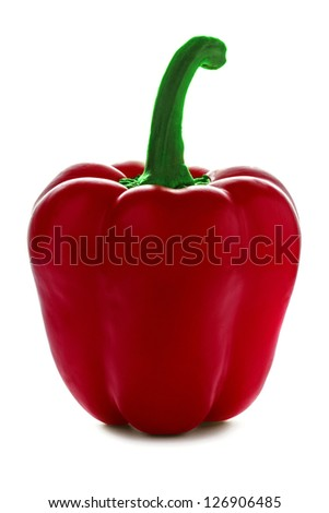 Red pepper isolated over white background. - stock photo