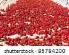 Red pepper outdoors - stock photo