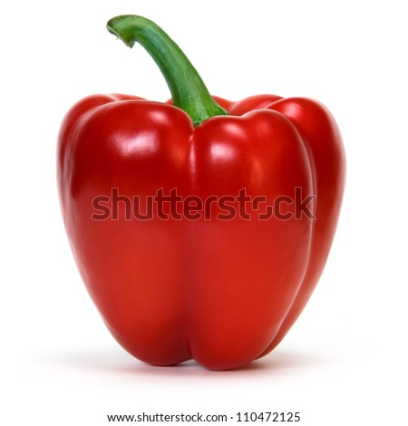 red pepper over white background - stock photo