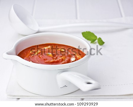 Red Pepper Soup - stock photo