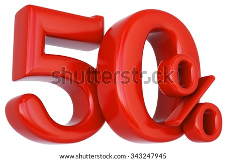 red percent discount symbol. isolated on white background. - stock photo