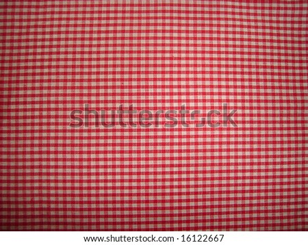 red picnic cloth - stock photo