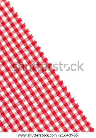 Red picnic cloth with place for text