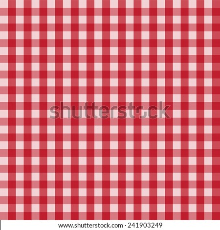 Red, picnic, country pattern.