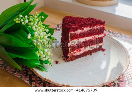 red piece of cake