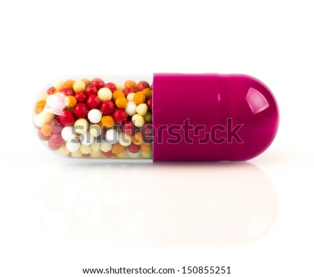 red pill - stock photo