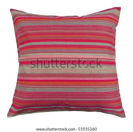 red pillow - stock photo