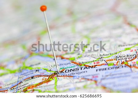 Map Pin Point Detroit Usa Stock Photo Shutterstock - Germany map konstanz