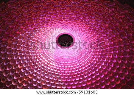 Red & Pink Lights - stock photo