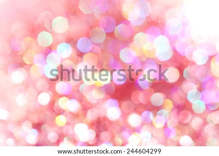 Red, pink, white, yellow and turquoise soft lights abstract background  - stock photo