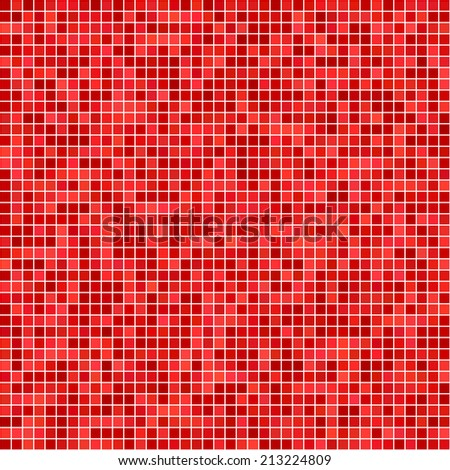 Red pixel mosaic background - jpeg version - stock photo