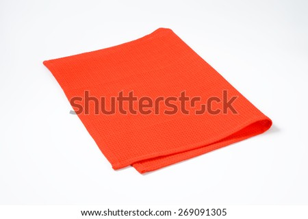 red place mat on white background