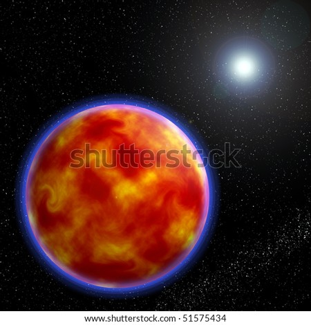 red planet in the cosmos
