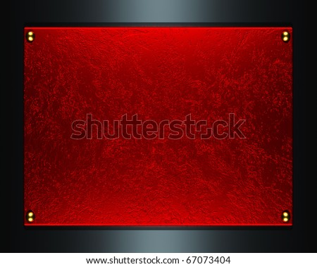 red plate texture background - stock photo