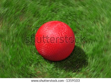 Red Playground Ball - stock photo