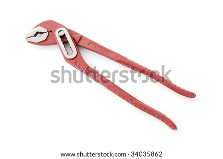 Red plumber wrench
